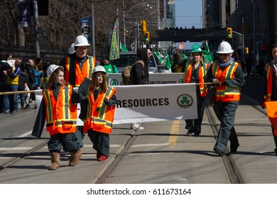 TORONTO - MARCH 19: St. Patrick's Day Parade in Toronto, March 19, 2017, Canada