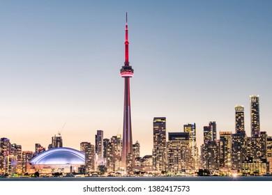 Toronto at Night, Ontario, Canada