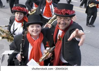 Toronto - November 16 :  Santa Claus parade participants - Santa Claus parade , November 16 , 2008 in Toronto, Ontario, Canada