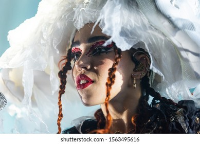 TORONTO – NOVEMBER 17, 2019: FKA twigs performs before a sold-out crowd at REBEL Entertainment Complex supporting her album MAGDALENE.