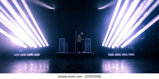 TORONTO - NOVEMBER 24, 2019: French music producer and artist Madeon (given name Hugo Pierre Leclercq) performs at the Danforth Music Hall on tour supporting his latest album, Good Faith.
