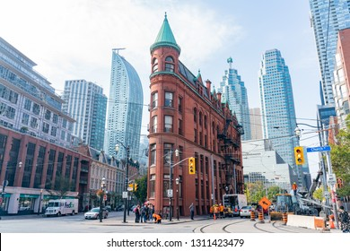 Toronto, OCT 8: Exterior view of the famous Gooderham Building on OCT 8, 2018 at Toronto, Canada