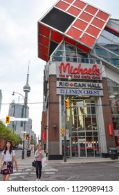 TORONTO, ON / CANADA - MAY 26, 2018:  Michaels, whose downtown Toronto store is shown here, has over a thousand stores in the United States and Canada