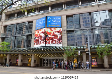 TORONTO, ON / CANADA - MAY 26, 2018: The Princess of Wales Theater, shown here, is named after Diana, Princess of Wales.