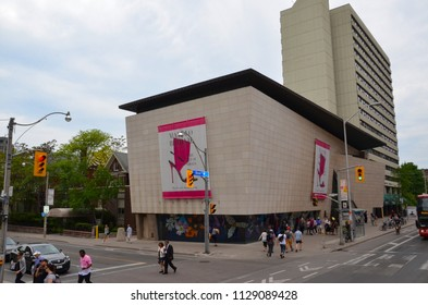 TORONTO, ON / CANADA - MAY 26, 2018: The Bata Museum, shown here, houses over a thousand shoes and related artifacts.