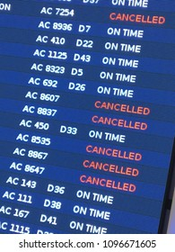 Toronto, ON, Canada November 7, 2017 Due to inclimate weather, several flights from Toronto's Pearson International Airport had to be canceled