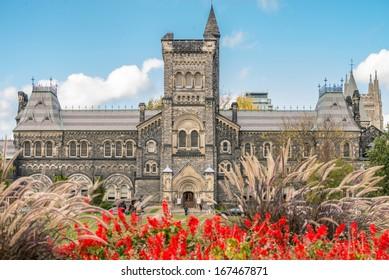 TORONTO, ON, CANADA - OCTOBER 22: University College at University of Toronto, in Toronto, ON, on October 22, 2013.