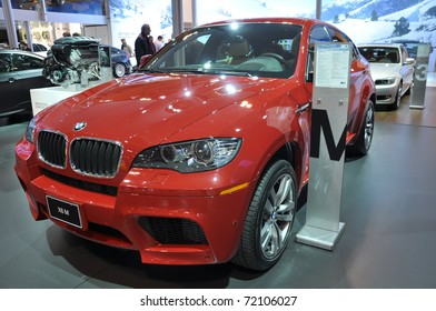 TORONTO, ON - FEB 24: BMW X6 at the International Canadian Auto Show on February 24, 2011 in Toronto, Ontario in Canada