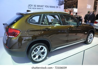 TORONTO, ON - FEB 24: BMW X1 at the International Canadian Auto Show on February 24, 2011 in Toronto, Ontario in Canada