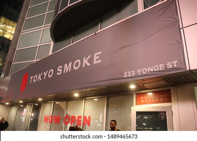 Toronto, Ontario / Canada - 08 27 19: Tokyo Smoke at their 333 Yonge street location. One of the handful of legal cannabis retail storefronts in the city.