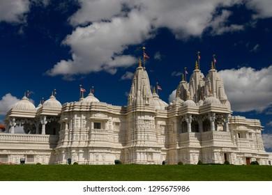 Toronto, Ontario, Canada - August 14, 2013: BAPS Shri Swaminarayan Mandir Hindu Temple hand carved in India and assembled in Toronto