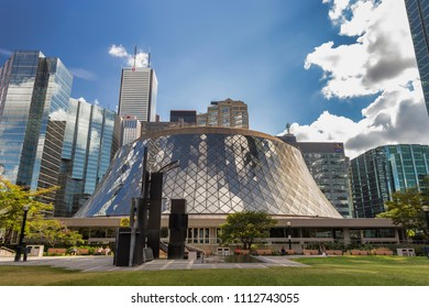 Toronto, Ontario / Canada - August 29, 2016: Royal Thompson Hall located in downtown Toronto, Ontario on a sunny day.