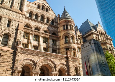 Toronto, Ontario / Canada - August 29, 2017: Downtown Toronto's Old City Hall taken on a sunny morning.