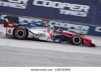 Toronto, Ontario, Canada - July 14, 2017:  Conor Daly during qualifying for the Honda Indy race at Exhibition Place