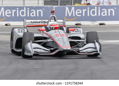 Toronto, Ontario, Canada - July 14 2018: Will Power at the Honda Indy at Exhibition Place