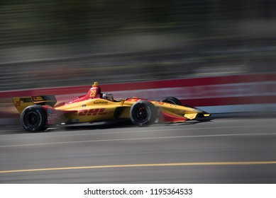 Toronto, Ontario, Canada - July 15 2018:  Ryan Hunter-Reay qualifying for the Honda Indy