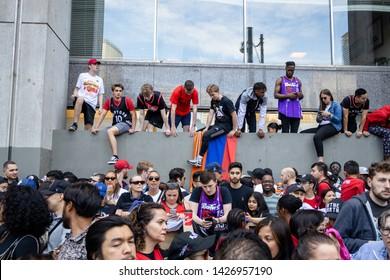 Toronto, Ontario, Canada - June 17, 2019 : Raptor Parade