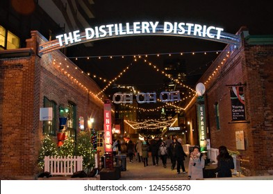 Distillery district christmas market location