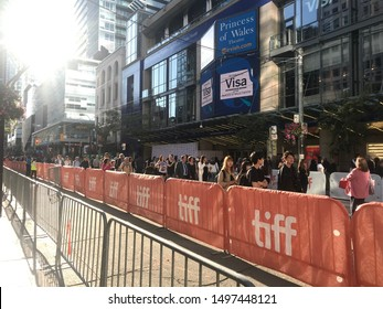 Toronto, Ontario / Canada - September 06 2019: the TIFF is opening in Toronto attracting a lot of Hollywood Stars and fans.