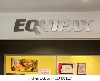 Toronto, Ontario, Canada - September 6, 2018: Sign of Equifax at Equifax head office in Toronto. Equifax Inc. is a consumer credit reporting agency.