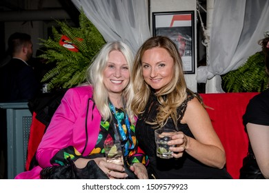 TORONTO, ONTARIO, CANADA - SEPTEMBER 9, 2019: PEOPLE ATTEND CANADA FILM FESTIVAL/DIRECTOR GUILD OF CANADA PARTY DURING TORONTO INTERNATIONAL FILM FESTIVAL.