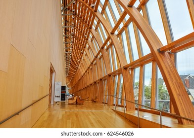 Toronto, Ontario, Canada - September15, 2012: Galleria Italia designed by architect Frank Gehry is part of Art Gallery of Ontario in downtown Toronto. The structure is made of laminated timber arches.