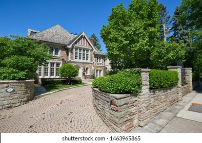 Toronto, Ontario, Canada-20 May, 2019: Luxury houses of Toronto Forest Hill neighborhood, an upscale living home to many prominent entrepreneurs, celebrities, doctors, and lawyers