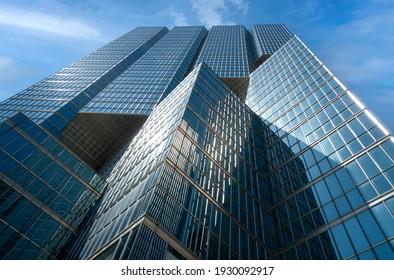 Toronto, Ontario, Canada-9 June, 2020: Scenic Toronto financial district skyline and modern architecture skyline.