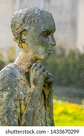 Toronto, Ontario, Canada-June 5, 2019:  Ireland Park, carved statues depicting the Irish immigrants who fled during the Great Famine of 1847.