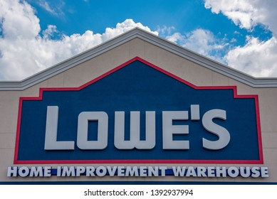 Toronto, Ontario, Canada-May 6, 2019: Lowe's Home Improvement Warehouse. Lowe's has acquired Canadian company Rona after the Canada Competition Bureau approved the buyout
