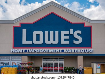 Toronto, Ontario, Canada-May 6, 2019: Lowe's Home Improvement Warehouse. Lowe's has acquired the Canadian company Rona after the Canada Competition Bureau approved the buyout