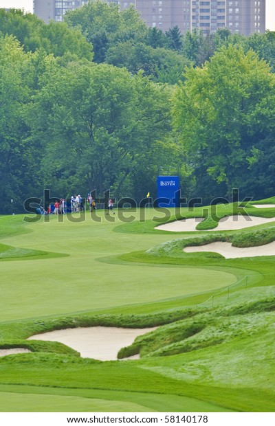 TORONTO, ONTARIO - JULY 21:  a pro-am event at the RBC Canadian Open golf, St. George's; Golf and Country Club; Toronto, Ontario, July 21, 2010