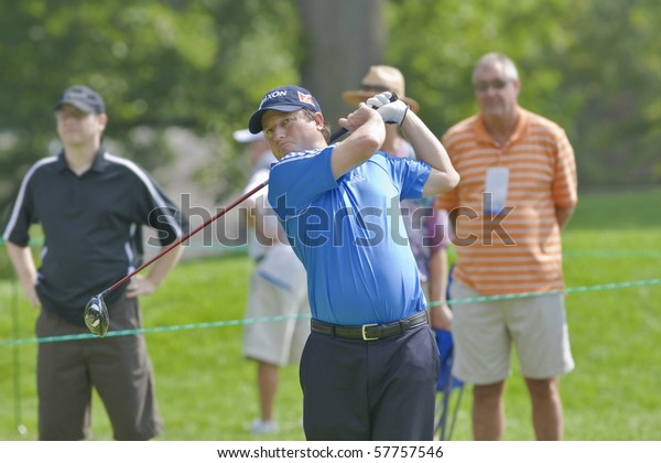 TORONTO, ONTARIO - JULY 21: South African golfer Tim Clark follows his tee shot during a pro-am event at the RBC Canadian Open golf on July 21, 2010.