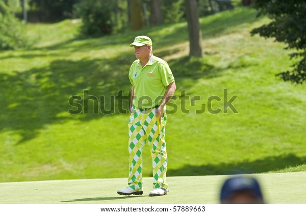 TORONTO, ONTARIO - JULY 21: US golfer John Daly  during a pro-am event at the RBC Canadian Open golf  St. George's; Golf and Country Club; July 21, 2010 in Toronto, Ontario.