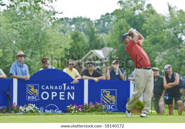 TORONTO, ONTARIO - JULY 21: US golfer Chris DiMarco unleashes a drive during a pro-am event at the RBC Canadian Open golf, St. George's; Golf and Country Club on July 21, 2010 in Toronto, Ontario.