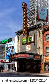 Toronto, Ontario, June 12, 2018: The Mirvish Theatre, opened in 1920, was initially known as Pantages Theatre, then Imperial and Canon Theatre, before being named Ed Mirvish.