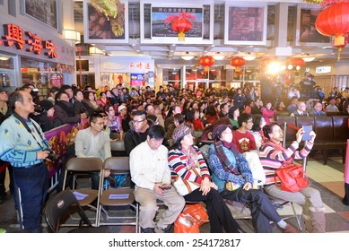 TORONTO, ONTARIO/CANADA - 18th Wednesday February 2015 : Crowd at Chinese New Year event  in Splendid China Mall, Toronto, Canada.