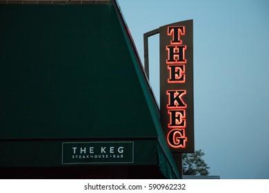 TORONTO, ONTARIO/CANADA - June 3 2015: signage for the keg restaurant