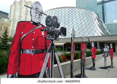 TORONTO - SEPTEMBER 13: Unique installation for souvenir photos in front of Roy Thomson Hall, a major venue of the 36th Toronto International Film Festival Sept 13, 2011 in Toronto, Canada