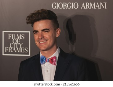 Toronto - September 6, 2014: The Giorgio Armani Films of City Frames Cocktail Party Black Carpet at CN Tower, TIFF 2014.