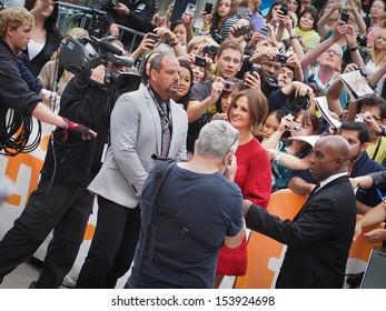 TORONTO - SEPTEMBER 9: Actress Julia Roberts arrives at the Toronto International Film Festival for her new film August: Osage County on September 9, 2013.