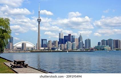 Toronto Skyline from island park