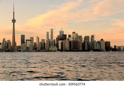 Toronto Skyline at sunset, Ontario, Canada