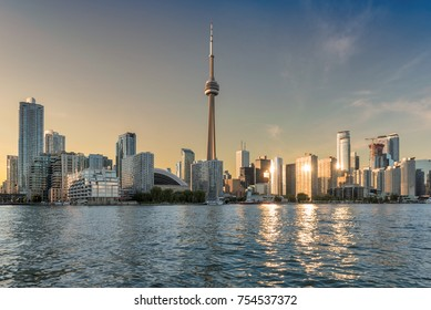 Toronto skyline at sunset - Toronto, Ontario, Canada.
