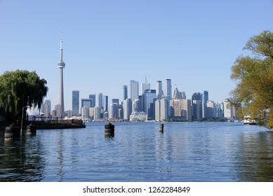 Toronto skyline from Ward's Island, Toronto, Ontario Canada 18 September 2018, view