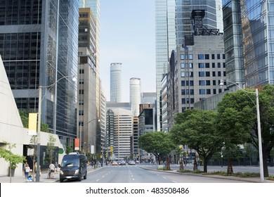 Toronto Skylines, City Street Building View, Toronto, Ontario, Canada