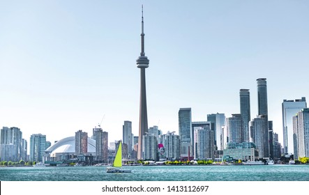 Toronto skyscraper with modern buildings, Canada