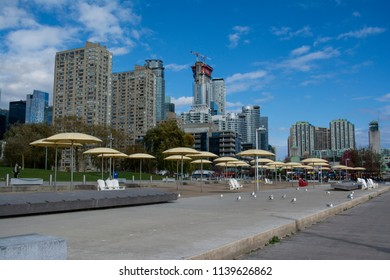 Toronto urban beach area