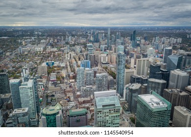 Toronto view from above at downtown