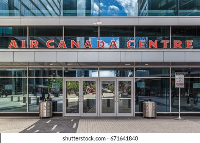 TORONTO,CANADA  - June 24, 2017:  Entrance of Air Canada Centre.  The Air Canada Centre (ACC) is a multi-purpose indoor sporting arena in Toronto.